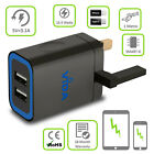 Quick Fast Multi 2/3 USB Port UK Mains Outlet Wall Charger Foldable 3-Pin Plug