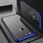 New ShockProof 360 Hybrid Silicone Case Cover for Apple iPhone X 8 7 6S Plus <br/> Metallic Edge Clear Case - Great Case - Limited Offer
