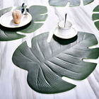 Kitchen Placemat Leaves PVC Insulation Dining Table Mat Disc Bowl Pad Coaster