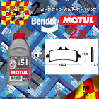 2x BENDIX 341-MF & DOT5.1 BRAKE FLUID SINTERED PADS KIT FITS MOTORCYCLES LISTED