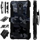 For Apple / LG Phone Case Holster Kick Stand Cover CAMO BLACK Lux Guard