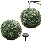 28cm Solar Powered 20 LED Lights Topiary Ball Artificial Buxus Boxwood Garden
