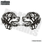 Rottweiler Dog Decal SET Rottie Pet Kennel Car Window Vinyl Sticker EMV
