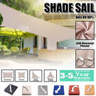 300D Sun Shade Sail Garden Patio Canopy UV Block Rectangular Triangle Waterproof