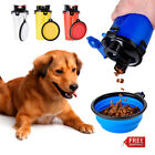 Dog Feeder Water Food Outdoor Bottle Pet Bowls Travel Food Supplies Dish Cup