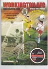 WORKINGTON HOME PROGRAMMES 2001 TO DATE UPDATED