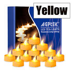 100Pcs LED Battery Operated Flameless Flickering Tealight Candle For Wedding