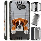 SILVER GUARD For Alcatel/ ZTE/ Huawei Phone Case Cover CUTE DOG BOXER