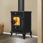 7.5KW Cast Iron Log Burner Wood Burning Stove MultiFuel Woodburner Fireplace