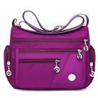 Women Waterproof Nylon Shoulder Bag Travel Multi-Pocket Messenger Handbag Tote