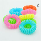 10 Pcs Plastic Hair Ties Spiral Hair Ties No Crease Coil Hair Tie Ponytail HC