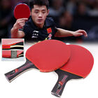 Long Short Table Tennis Racket Bat Carbon Fiber With Bag Ping Pong Paddle, used for sale  Shipping to Canada
