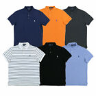 Polo Ralph Lauren Mens Polo Custom Slim Fit Mesh Collar Top New Prl S M L Xl Xxl
