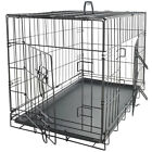 Pet Kennel Cat Dog Folding Steel Crate Animal Playpen Wire Metal