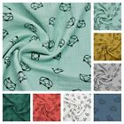 Fox Double Gauze - ONLY  £7.99 METRE 100% Cotton Muslin Fabric FREE POSTAGE