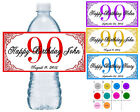 50 ~ 90TH BIRTHDAY PARTY FAVORS WATER BOTTLE LABELS ~ PERSON