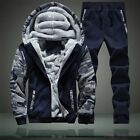 winter running pants - Winter Vogue Mens Hooded Padded Sport Suits Outdoor Running Coat+Pants Warm