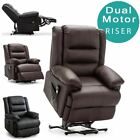 LOXLEY ELECTRIC RISE RECLINER ARMCHAIR BONDED LEATHER SOFA MOBILITY LIFT CHAIR