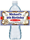 NAUTICAL BIRTHDAY PARTY FAVORS WATER BOTTLE LABELS