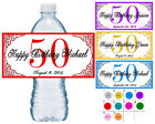 50 ~ 50TH BIRTHDAY PARTY FAVORS WATER BOTTLE LABELS ~ PERSON