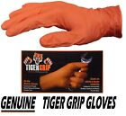 Genuine Tiger Grip Strong Orange Nitrile Gloves Hi-visibility Powder Free M L XL