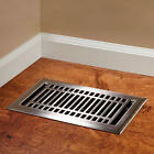 Signature Contemporary Steel Floor Registers In Many Sizes And Finishes