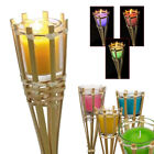 Garden Scented Citronella Candles Torch Colour Wax Bamboo Outdoor Patio Lights