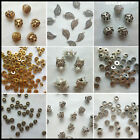 Wholesale Tibetan Silver Gold Rondelle Spacer Beads Fit Charms Bracelet image