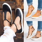Womens Hollow Loafers Canvas Flat PU Nude Shoes Slip On Shoe Indoor Outdoor