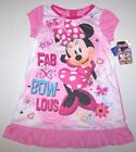 Nwt New Disney Minnie Mouse Nightgown Pajamas Fab Bows Pink