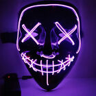 Hot Cosplay Halloween Mask Led Light Up Purge Movie Flash Scary Party Costume US