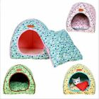 Foldable Cat Bed Pet Tent House Warm Soft Dog Bed Non-slip Mat Cute Puppy House