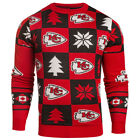 Kansas City Chiefs NFL Repeat Patches Holiday Sweater