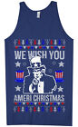 We Wish You Ameri Christmas Men's Tank Top Holiday Uncle Sam