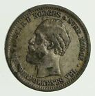 Roughly Size of Quarter 1904 Norway 1 Krone - World Silver Coin 7.5g *034