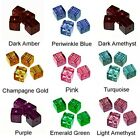 WHOLESALE GLASS BEADS SQUARE CUBE 9 COLORS PURPLE BLUE GREEN PINK GOLD 6MM 4MM