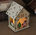LED Light Wood HOUSE Cute Christmas Tree Hanging Ornaments Holiday Decoration