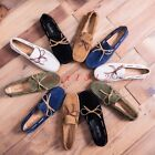 New Men Round Toe Slip On Loafer Suede Gommino Casual Shoe Suede Bowknot Casual