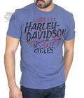 Harley-Davidson Mens Smokey Tank Flames Faded Blue Short Sleeve T-Shirt $9.99 USD on eBay