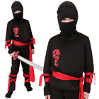 BOYS NINJA COSTUME SAMURAI WARRIOR ASSASSIN WORLD BOOK DAY HALLOWEEN FANCY DRESS