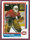 PATRICK ROY MONTREAL CANADIENS COLORADO AVALANCHE NHL HOCKEY CARD SEE LIST $1.0 CAD on eBay