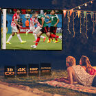 60/72/84/100/120/150 Inch 16:9 Collapsible Portable Projector Cloth Screen