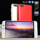 "5.0"" Big Screen Android 5.1 Smartphone Dual Sim Quad Core Wifi Mobile Phone LED"