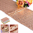 Rose Gold Sequin Table Runner Tablecloth Wedding Birthday Xmas Party Decorations