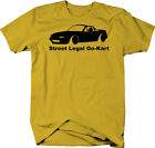 Mazda Miata Street Legal Go Kart Racing Color T-Shirt