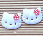 """(15-45pc) x (1 5/8"""") Large Padded Appliques w/Flower Bow for Hello Kitty ST519R"""