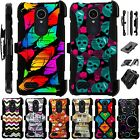 For Alcatel TCL LX A502DL Holster Case Armor Kickstand Phone Cover LuxGuard H8