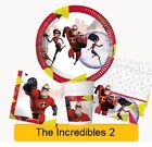 Disney Pixar THE INCREDIBLES 2 Birthday Party - Tableware Decorations Supplies