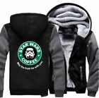 Warm Thicken Star Wars Coffee  Jacket Cosplay Sweater fleece coat