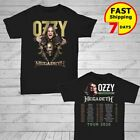 Ozzy Osbourne Shirt Megadeth 2019 No More Tours 2 T-Shirt full size Men Black